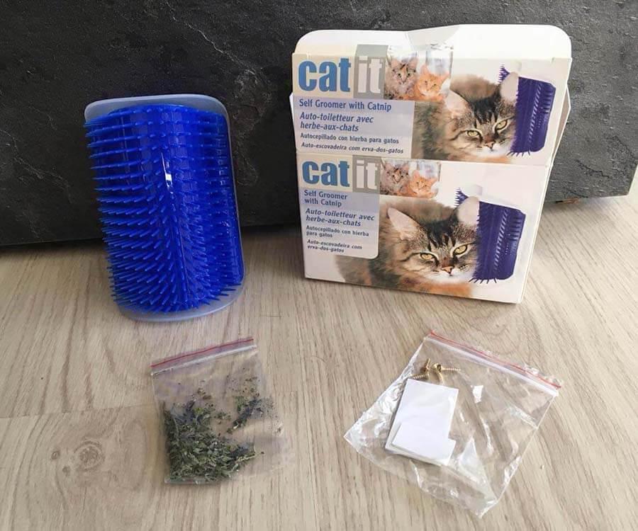 Katzen Massage Ecke mit Catnip