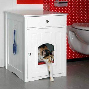 Katzenklo Schrank WC Bad