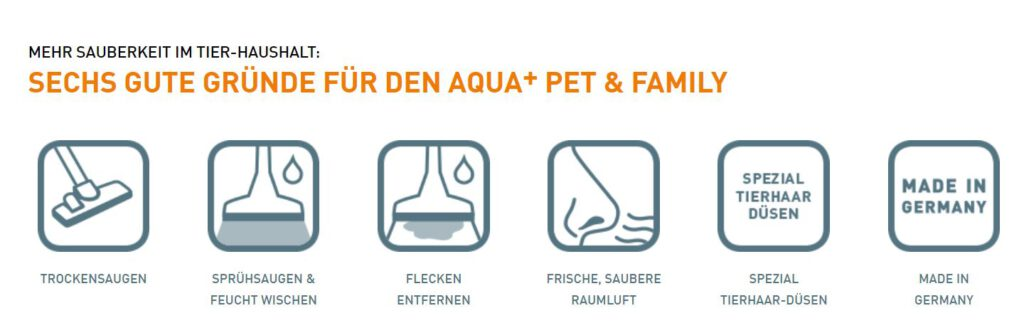 aqua pet and family staubsauger funktionen